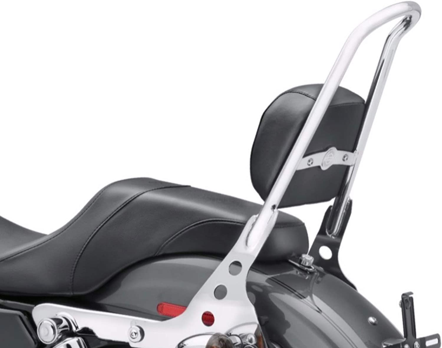 Chrome One Piece Detachable Passenger Sissy Bar Backrest Pad Harley Davidson XL Sportster XL883 883 Forty Eight Nightster Iron Super Low SuperLow 04-2020 XL1200 1200 Sissy Bar 52300044A Pads 52631-07