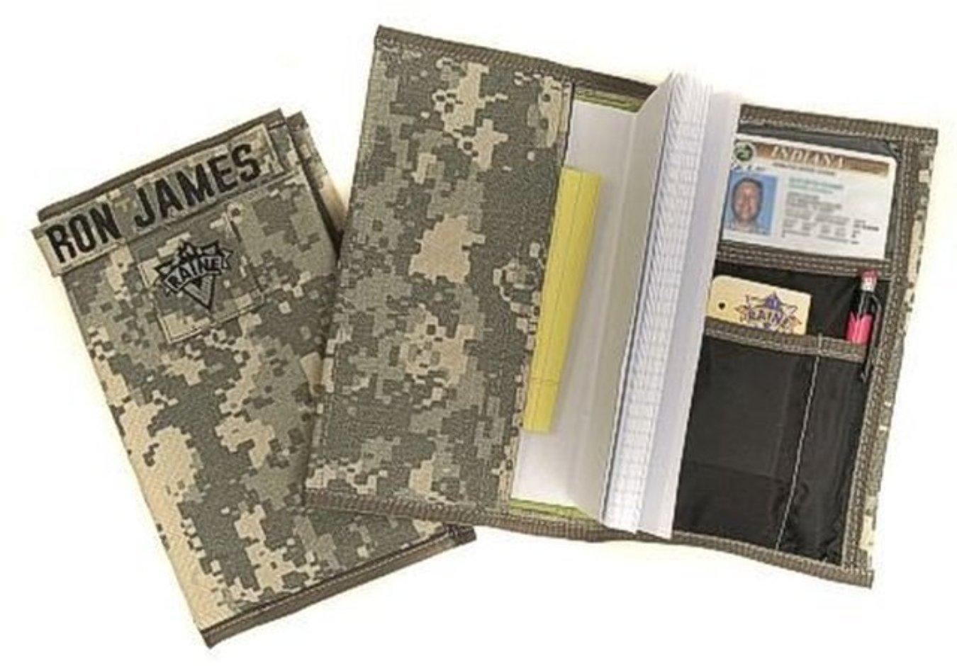 Raine Inc. US Army Military ACU Digial Camo Camoflauge Nylon Leader Book Cover Holder Case