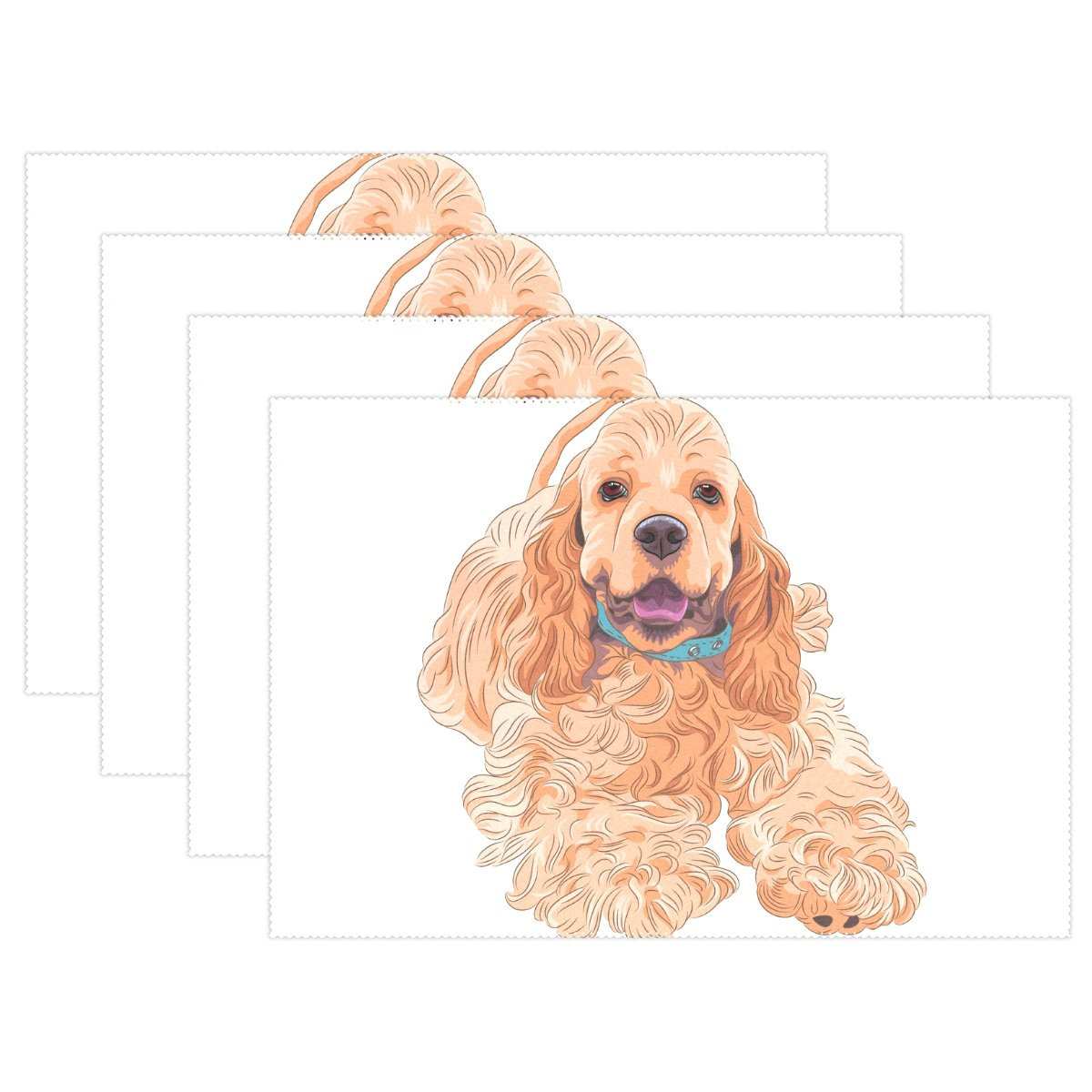4pcsダックスフント犬バタフライプレースマット – 12 x 18in – Washable Heat Crease Resistant Printed Place Mat forキッチンディナーテーブルby Top Carpenter 4pcs Houseusemat-1215-F10 4pcs パターン10 B0789D2HZR