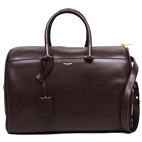 2091279ab0 SAINT LAURENT YSL 12 HOUR DUFFLE LARGE LEATHER SATCHEL DEEP BURGUNDY  SHOULDER BAG 322050  Amazon.ca  Shoes   Handbags