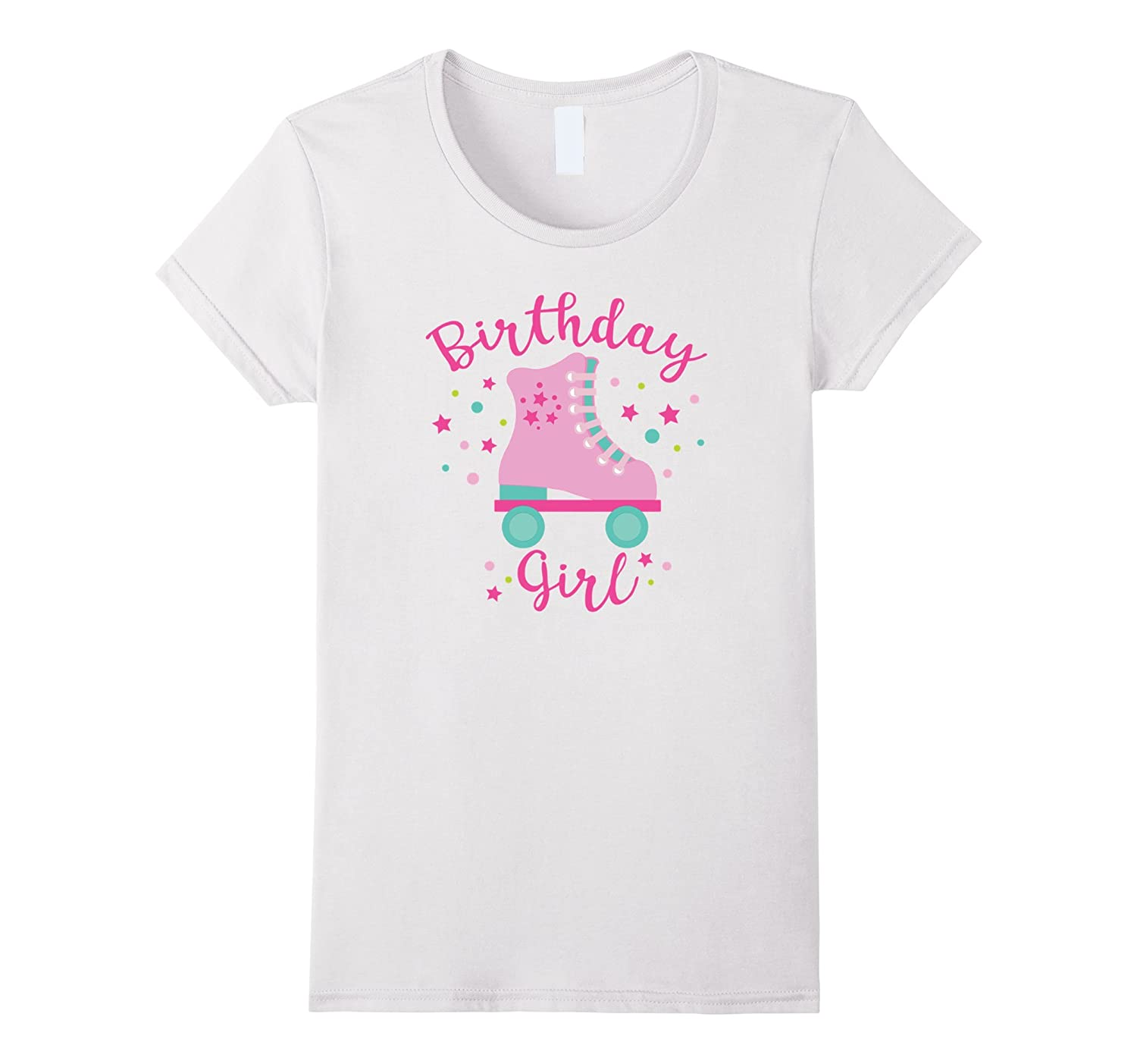 Rollerskate Birthday Girl T-Shirt-TH