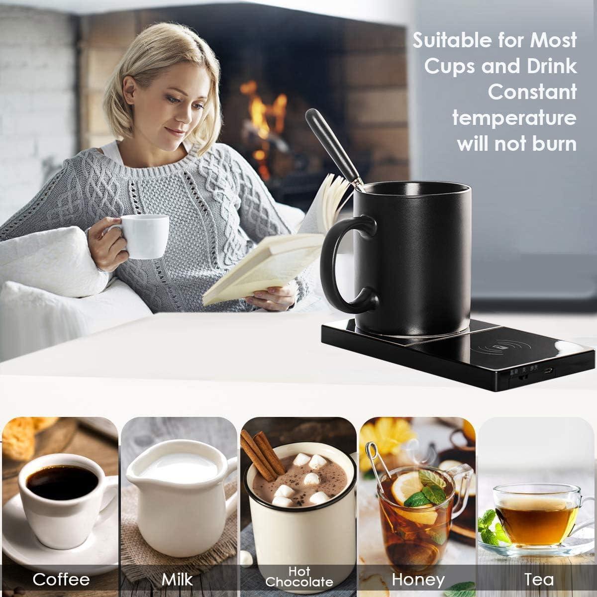 Calentador de Tazas 2 en 1 para el hogar//Oficina Temperatura Constante 131 ℉ // 55 ℃ Calentador de Tazas de caf/é SCOBUTY Calentador de caf/é Calentador el/éctrico de Bebidas