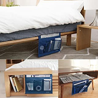 Bedside Caddy Storage Organizer Hanging Bag , Pocket Under Couch Table Mattress Book Remote Glasses Caddy within Arms Reach EU-SPH-055-NB SeeParts EU