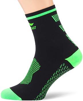 Sportlast Pro Calcetines de Compresión para Trail, Negro/Verde, L: Amazon.es: Deportes y aire libre