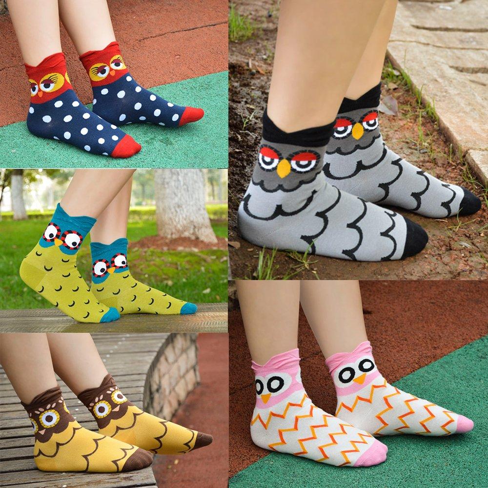 Ambielly calcetines de algod/ón calcetines t/érmicos Adulto Unisex Calcetines 5 B/úho
