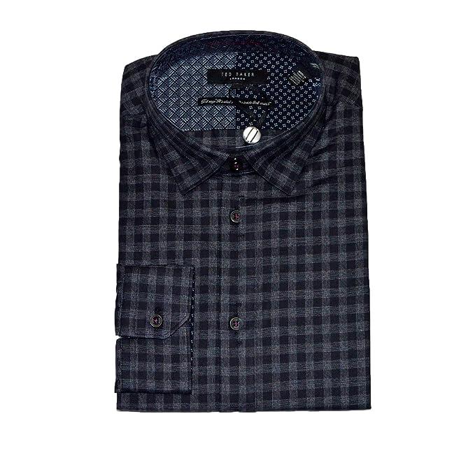 acba1dcf23ba Ted Baker Shoredi Mens LS Cotton Check Shirts  Amazon.co.uk  Clothing