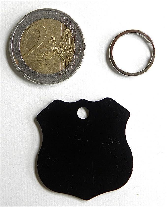1 medalla negra insignia policía perro Collar arnés gran modelo ...