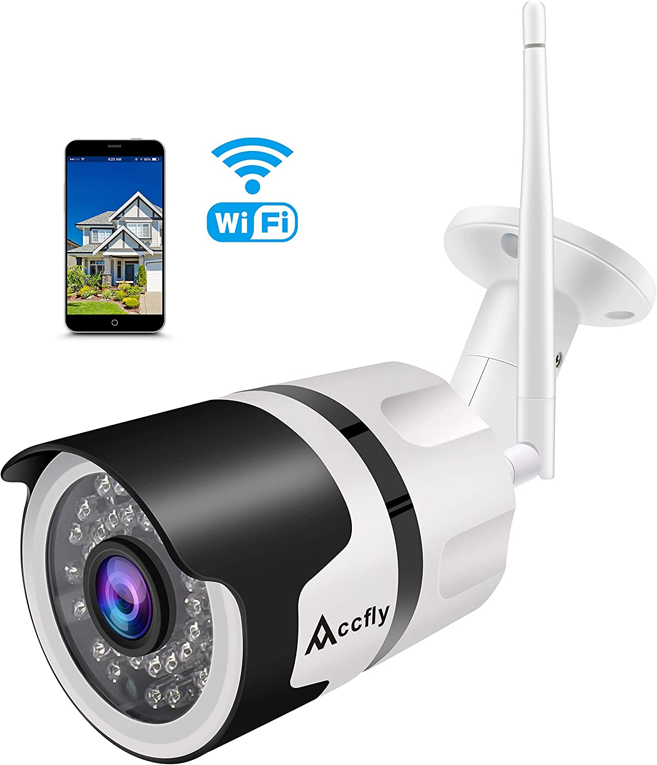 1080P HD Wireless WiFi IP Camera CCTV Outdoor Security Webcam IR Night Vision