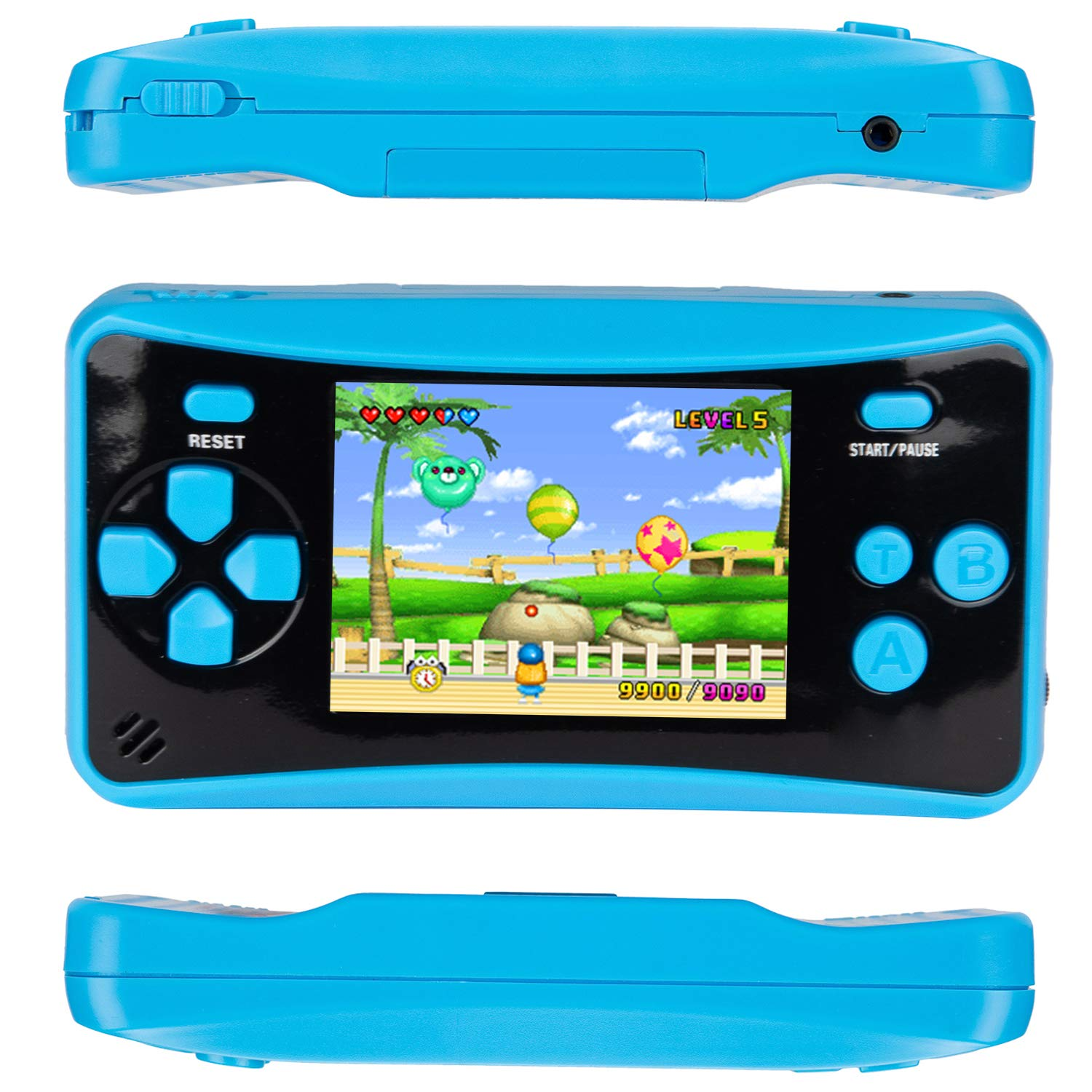 HigoKids Handheld Game Console for Kids Portable Retro Video Game Player Built-in 182 Classic Games 2.5 inches LCD Screen Family Recreation Arcade Gaming System Birthday Present for Children-Blue by HigoKids (Image #6)