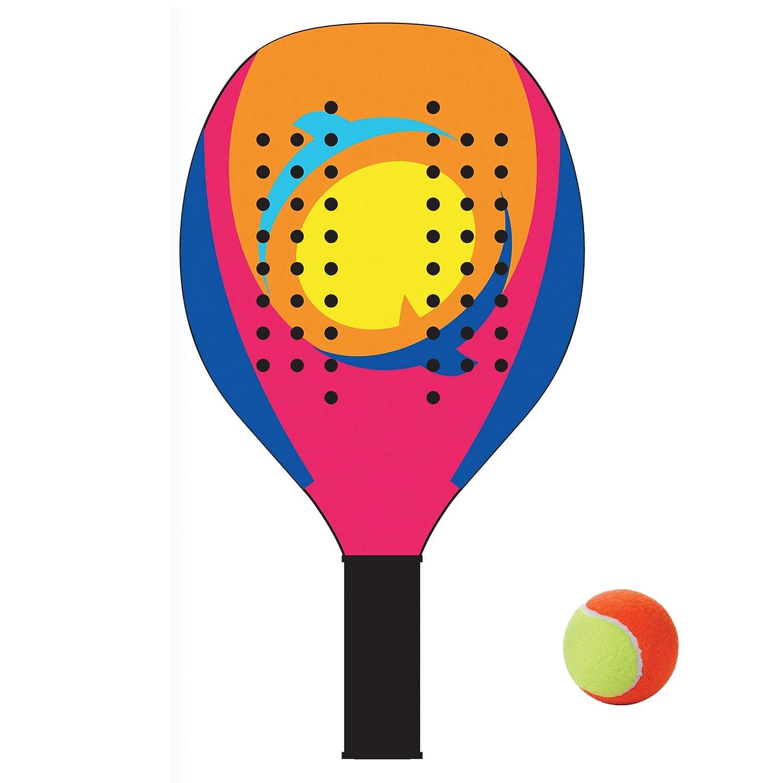 Racchettoni da Spiaggia in Legno con Pallina MOD.Aqua//1,Coppia Racchette Beach Tennis in Legno da 12mm,Coppia Racchetta da Spiaggia Completa di Pallina,Racchette da Spiaggia,racchettoni Mare in Legno