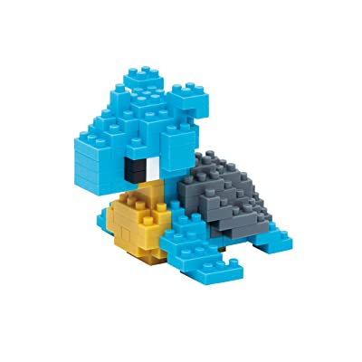Lapras Nanoblock Pocket Monsters + Gift Tweezers Plastic Cube Building Blocks (Smartoys): Toys & Games