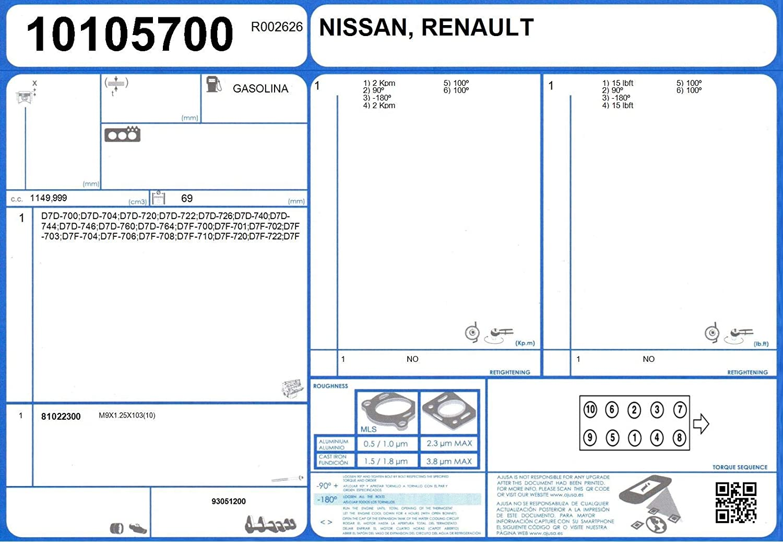 Motor AJUSA 50173100 Dichtungsvollsatz