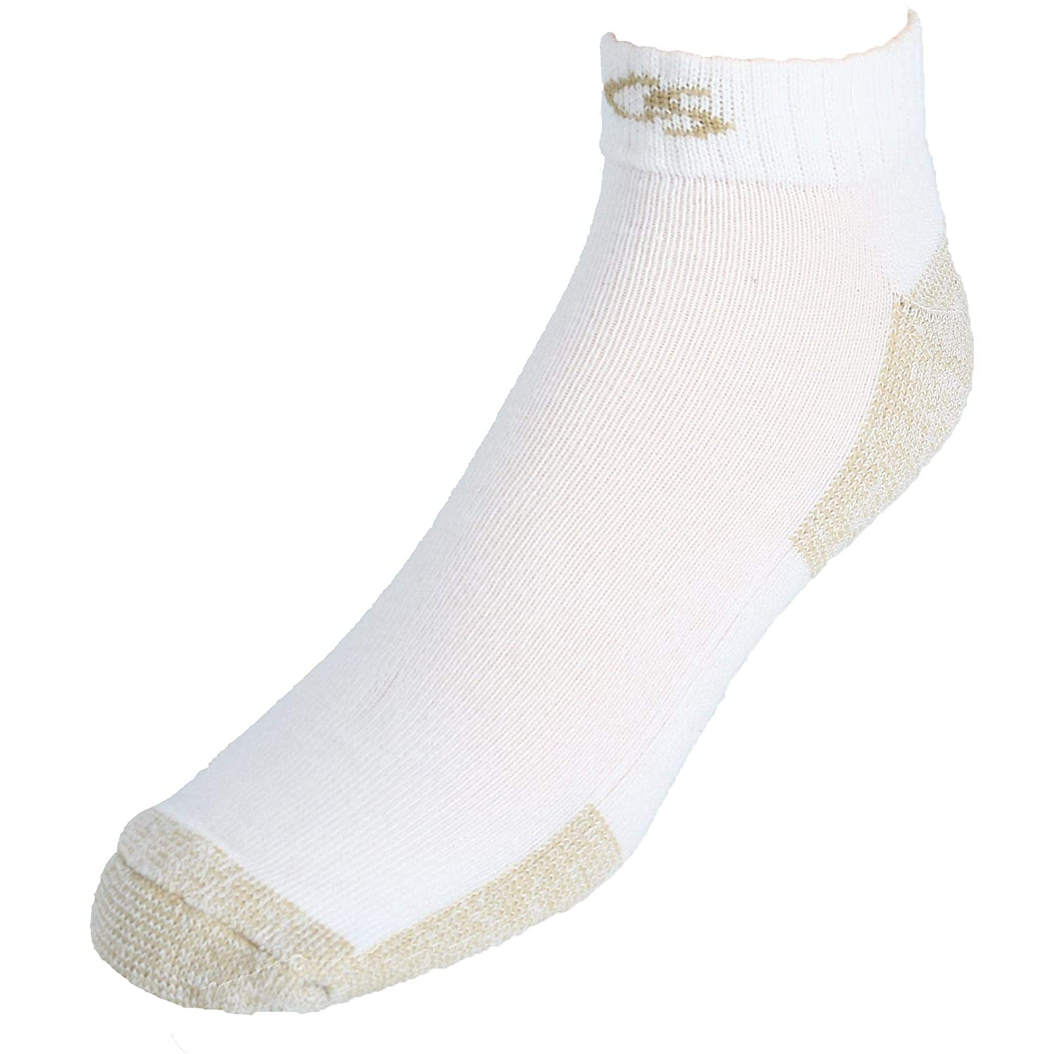 Copper Sole Men's Extended Size Odor Control Low Cut Socks (3 Pair Pack) CS840-WX