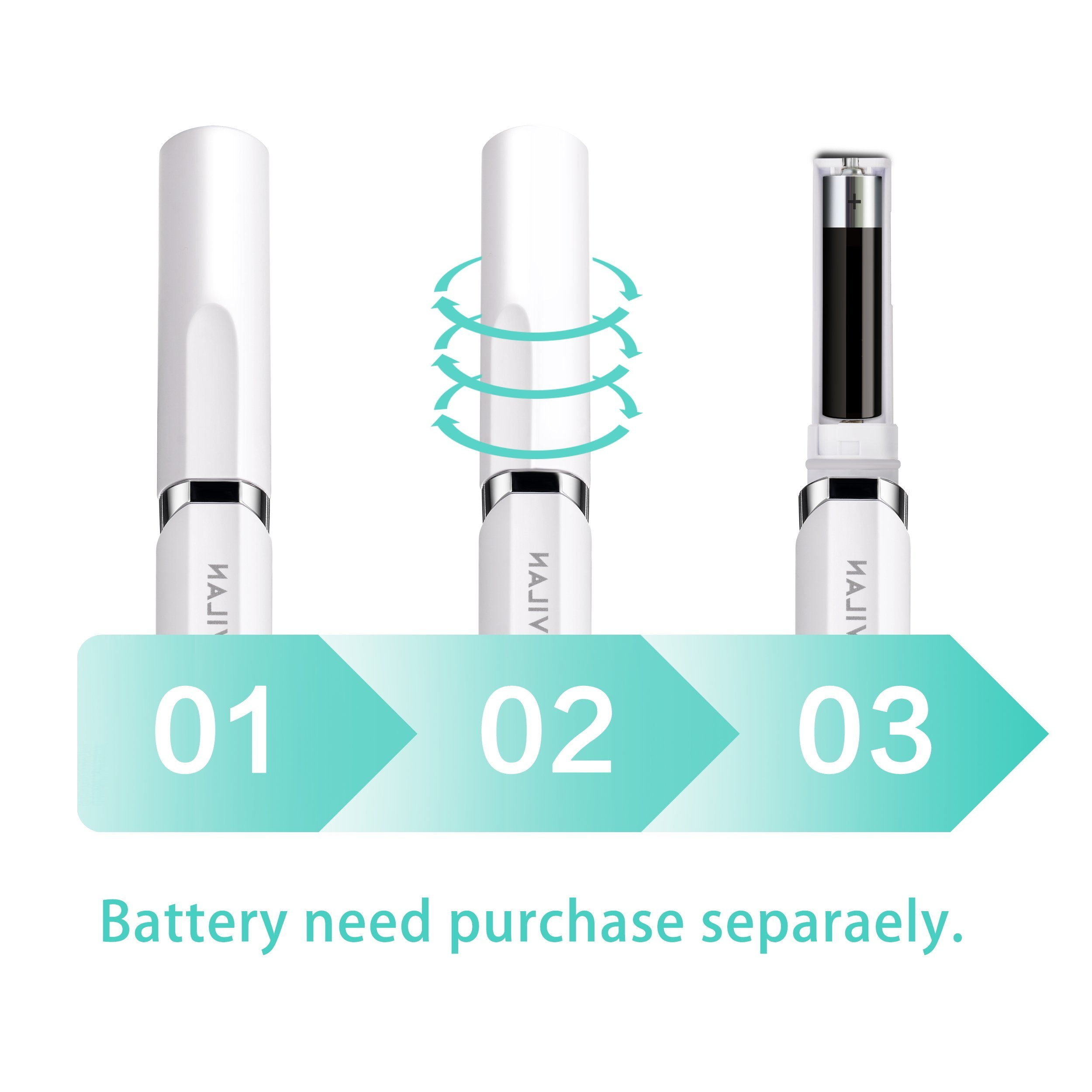 Travel Electric Toothbrush by Gevilan with Sonic Powerful Vibration and 2 Modes Battery Operated, Waterproof and Portable Lipstick Mini Design for Daily Oral Beauty Care, Trip and Outdoor Camping