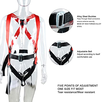 7788a60b8 YaeCCC Full Body Safety Harness Climbing Harness Belts for Outdoor ...