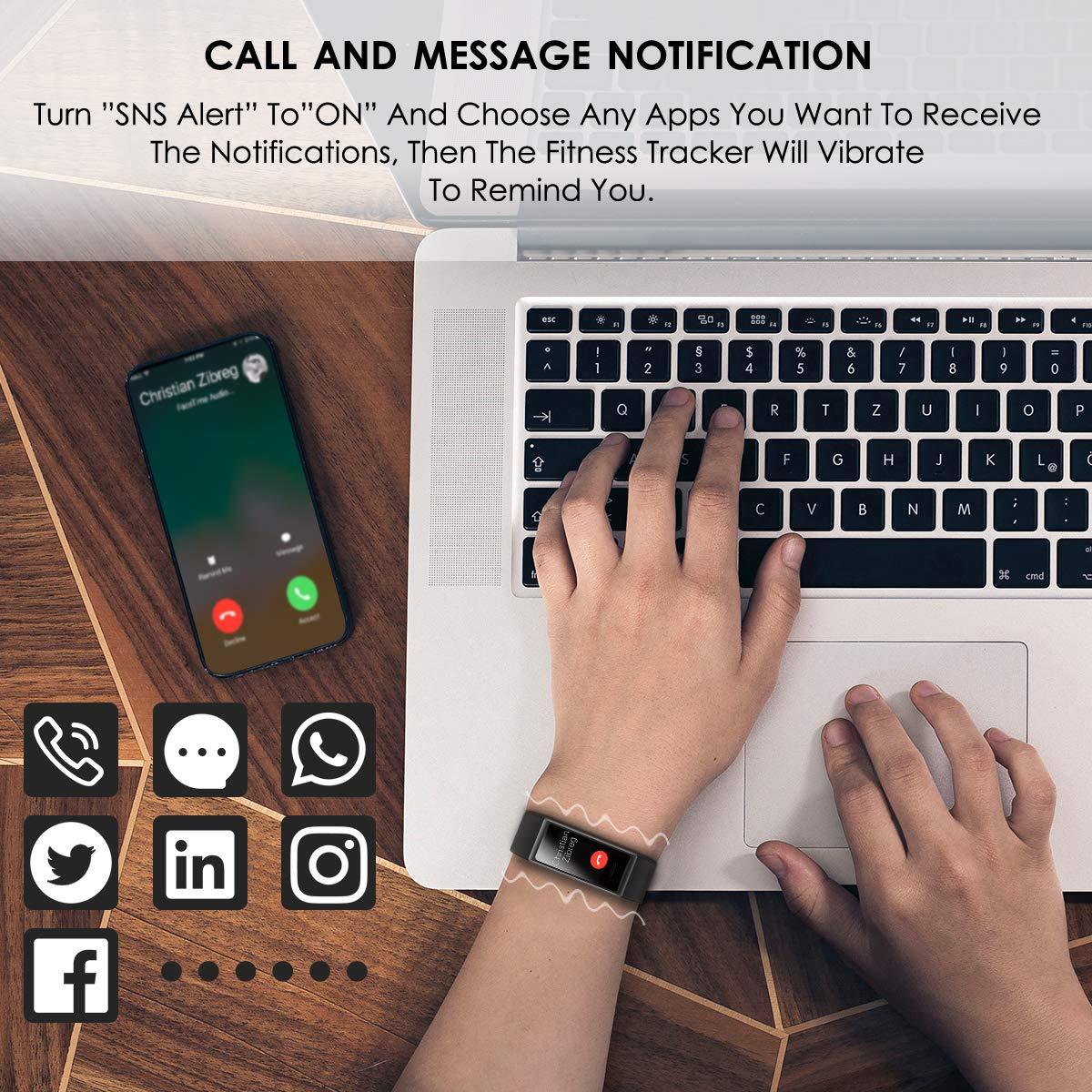 CHEREEKI Fitness Tracker, Orologio Fitness Bluetooth Impermeabile IP68 Uomo Donna con Cardiofrequenzimetro, Contapassi con Calorie, e Cronometro per iPhone Android (Nero)