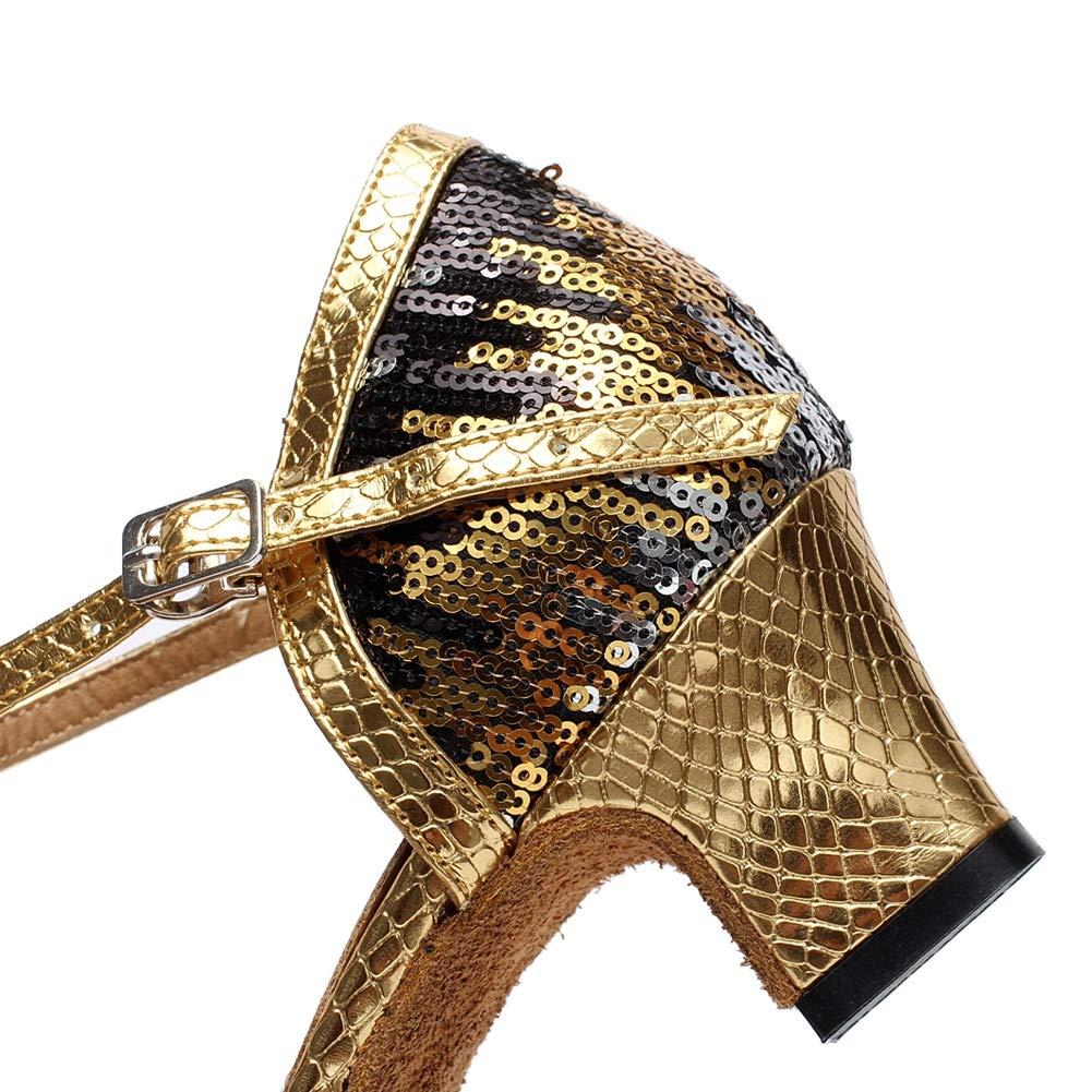 XIAOY Frauen Satin Lateinische Tanzschuhe Glitter T-Strap Dance Schuhe Geschlossene Geschlossene Geschlossene Zehe Funkelnde Glitzer B07LGRZXLB Tanzschuhe eine breite Palette von Produkten 6a1eff