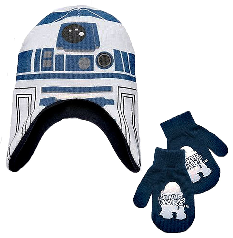 Amazon Star Wars Little Boys R2D2 Winter Hat & Mitten Set