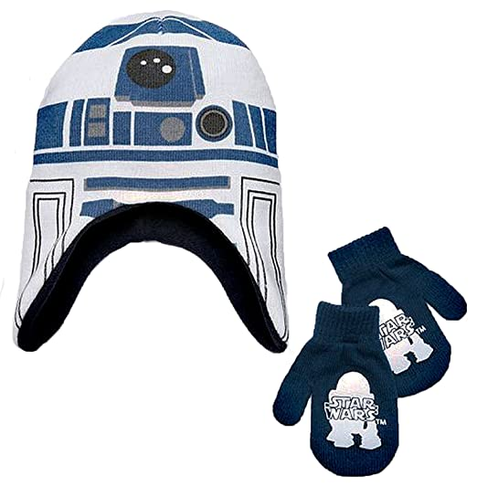 aede95f3c6c Image Unavailable. Image not available for. Color  Disney Star Wars Little  Boys R2D2 Winter Hat   Mitten Set