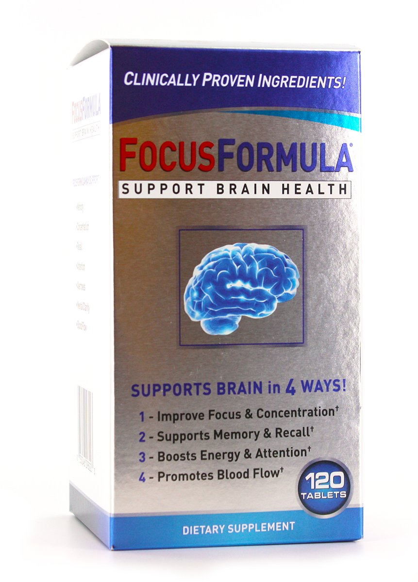 Focus Formula, Supports Optimum Memory Levels, Concentration and Recall Ability, 60 Servings