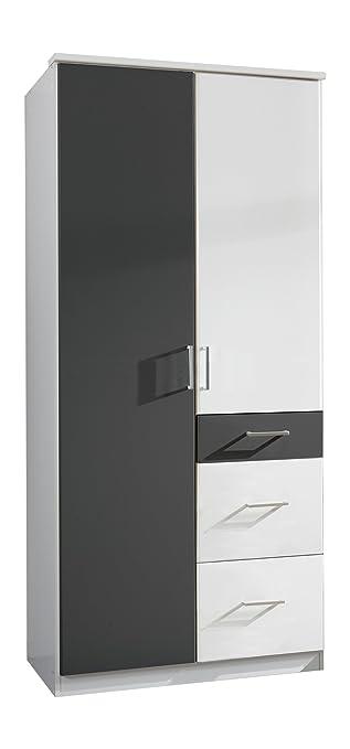 Wimex Kleiderschrank/Drehtürenschrank Click, 2 Türen, 2 große, 1 ...