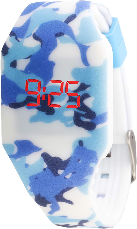 KIDDUS Reloj LED Digital para niña o niño. Pulsera de Silicona Suave para niños y Adultos. Batería Japonesa reemplazable. Fácil de Leer y Aprender Las Horas.