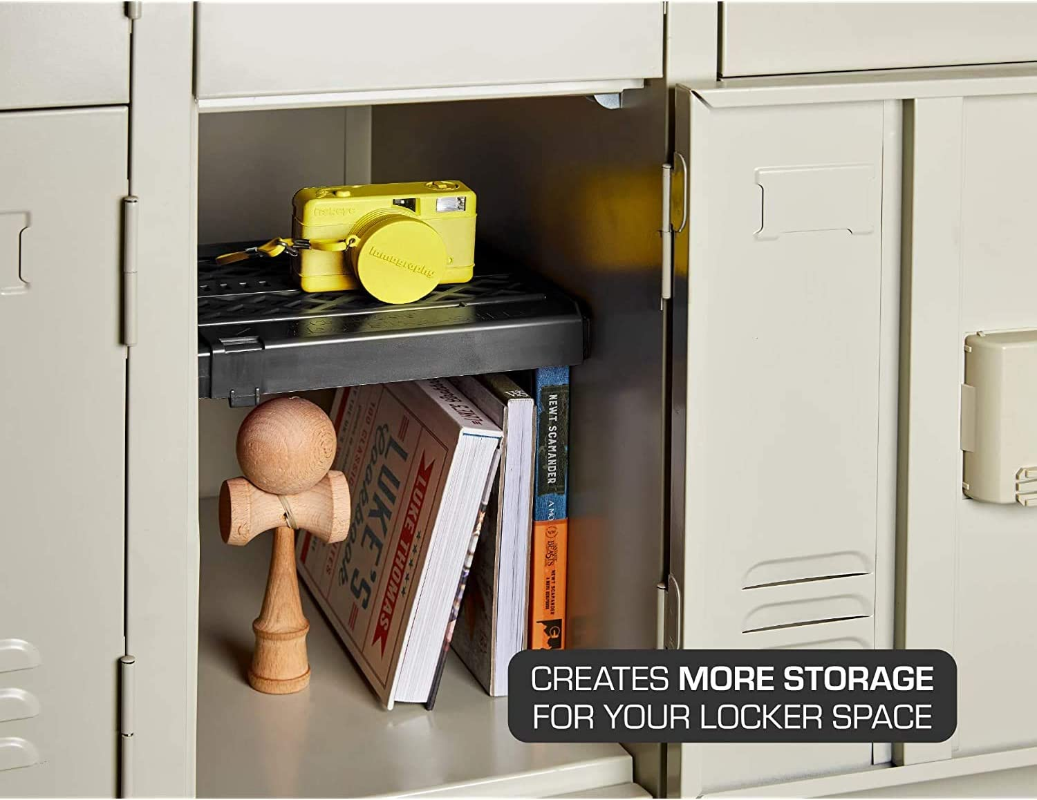 12 Ounces Extends to Fit Your Locker Easy to Use Pink Adjust-A-Shelf Locker Shelf