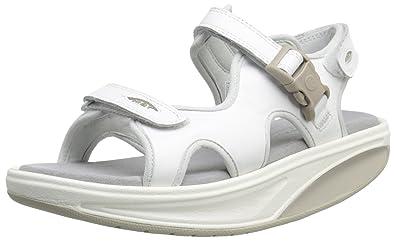a6b2ae3d2e5f MBT Shoes Women s Kisumu 3S Leather Sandal  Sandal White 5 Medium (B)