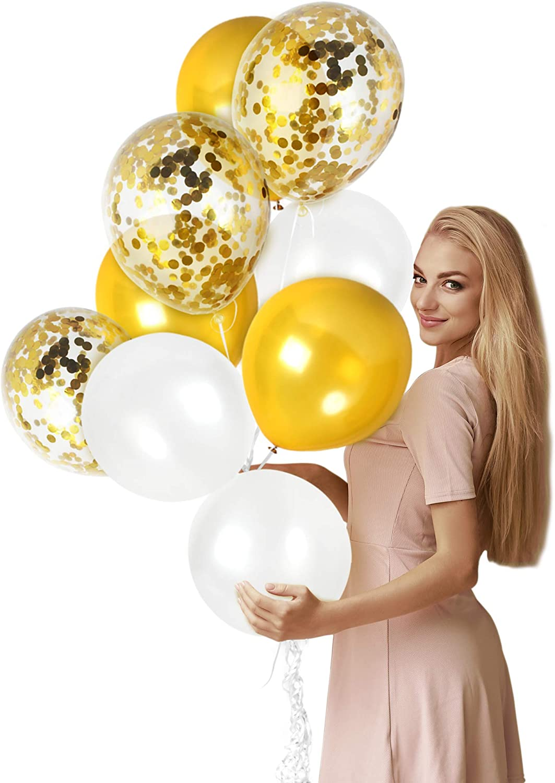 "12/"" Metallic Latex Balloons Chrome Balloons Wedding Birthday Party 6 colours UK"