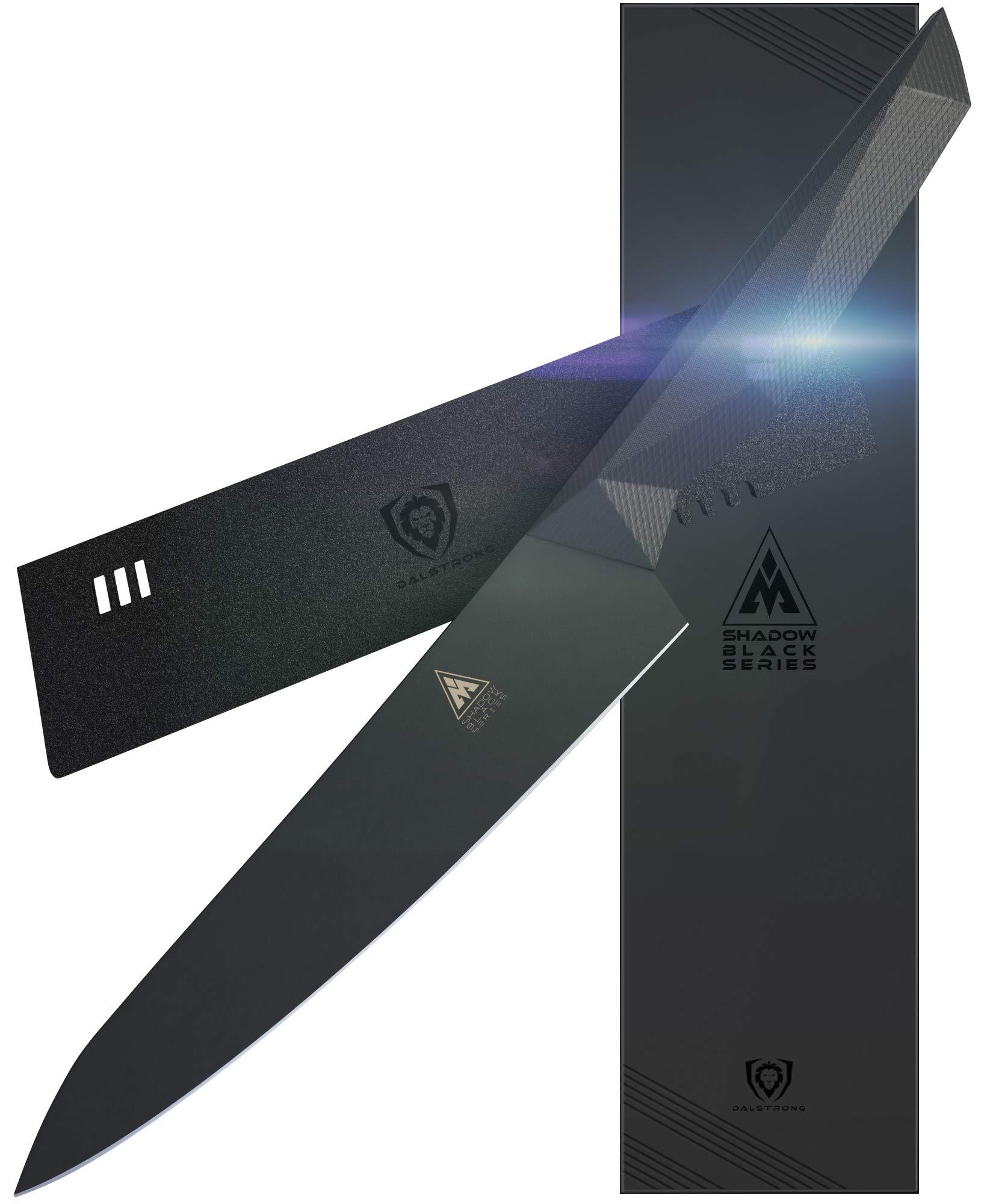 Dalstrong - Shadow Black Series - Black Titanium Nitride Coated - High Carbon - 7CR17MOV-X Vacuum Treated Steel- Sheath (8'' Chef)