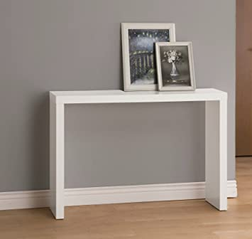 Excellent White Finish Modern Console Sofa Entry Table Pabps2019 Chair Design Images Pabps2019Com
