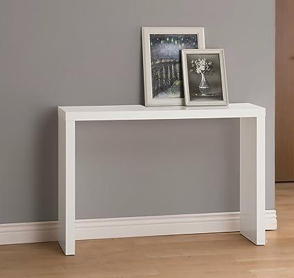 Amazon.com: White Finish Modern Console Sofa Entry Table ...