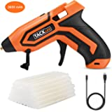 Glue Gun,Tacklife PGG01B DC Cordless Hot Melt Glue Gun Equipped with 3.6 V Lithium Battery, 45 Pcs 7x100mm Glue Sticks and Double Indicator Lights