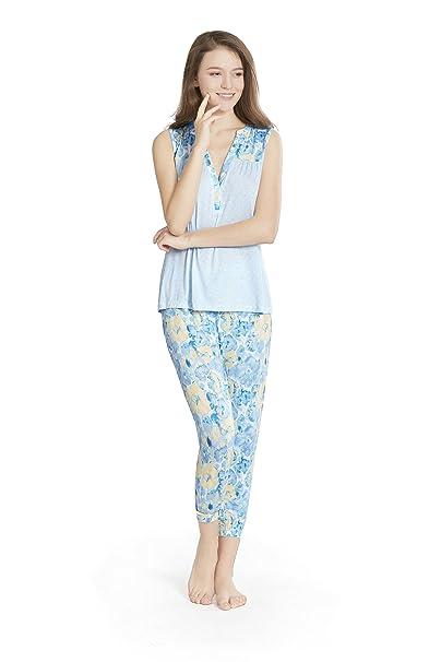 SCM Pijama - para mujer flores S