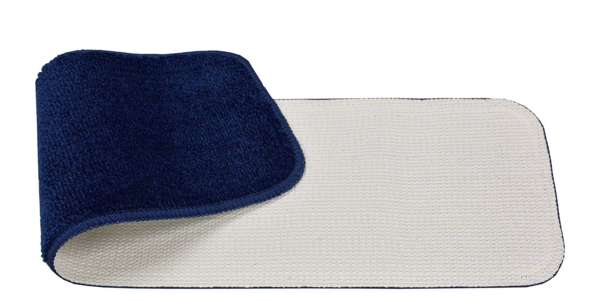 RugStylesOnline TRENDY-ST-8X30-NAVY-13 Trendy Stair Tread Treads Indoor Skid Slip Resistant Carpet Stair Tread Treads Machine Washable 8 ½'' W x 30'' L, Royal Navy Blue, Set of 13 by RugStylesOnline (Image #3)