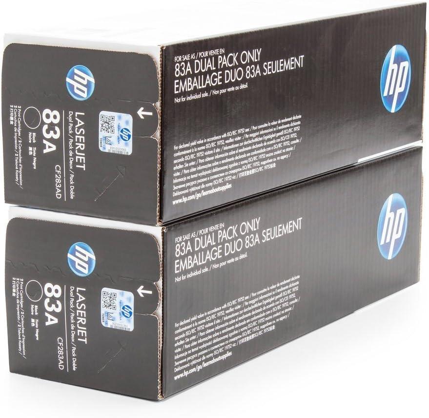 Original Hp Cf283ad 83a 2x Premium Drucker Kartusche Schwarz 2x 1500 Seiten Bürobedarf Schreibwaren