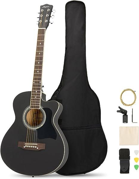 ARTALL Kit de iniciación de guitarra acústica de madera maciza de ...