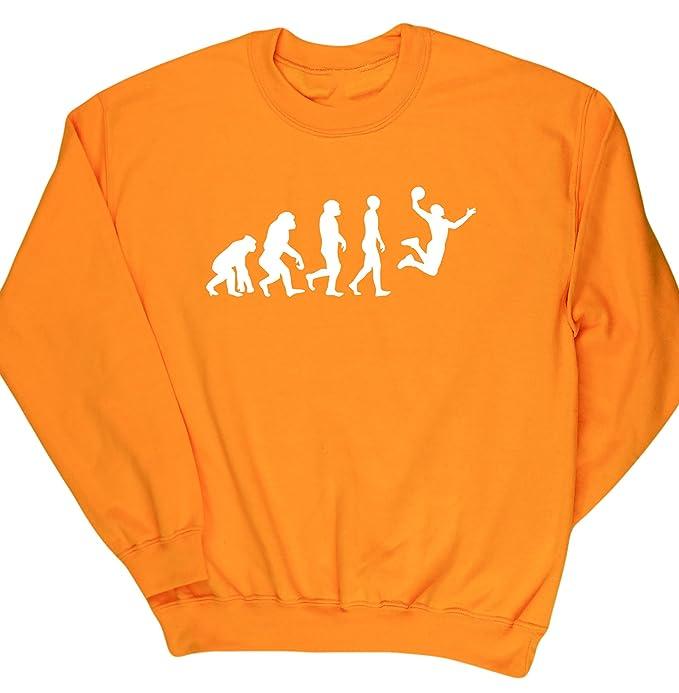 HippoWarehouse Evolución del baloncesto jersey sudadera suéter derportiva unisex: Amazon.es: Ropa y accesorios
