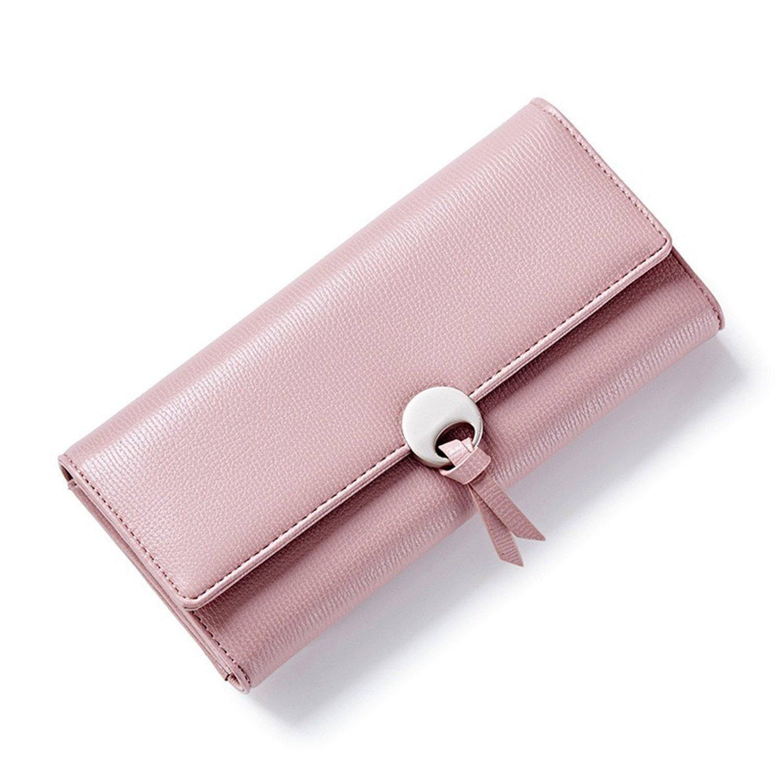 Amazon.com: Shining4U New Long Women PU Leather Wallets Fashion Designer Clutch Purse Lady Party Wallet Three Fold Female Card Holder BlackOne Size: Shoes
