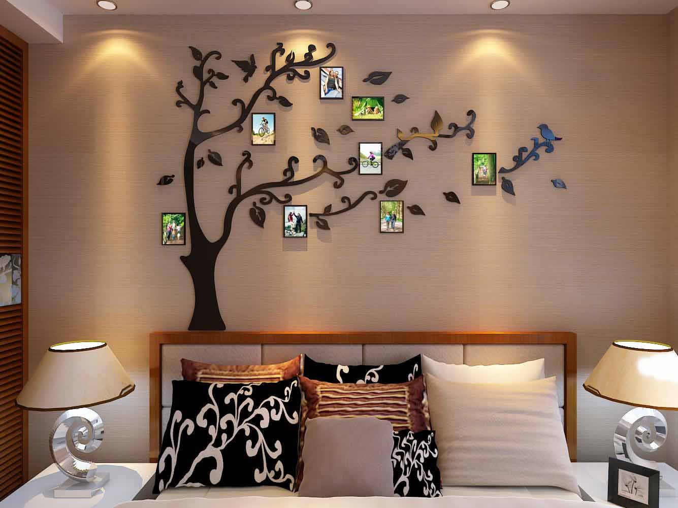 3d Picture Frames Tree Wall Murals for Living Room Bedroom Sofa Backdrop Tv Wall Background, Originality Stickers, Wall Decor Decal Sticker (50(H) x 70(W) inches) by DecorSmart (Image #5)