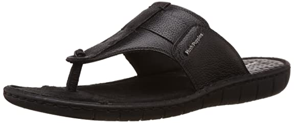 Hush Puppies Men's Sedan Thong Leather Flip Flops Thong Sandals Men's Fashion Sandals at amazon