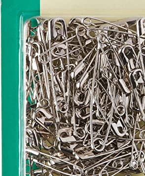 100-Count Dritz 1460 Safety Pins Nickel Plated Steel Assorted Sizes