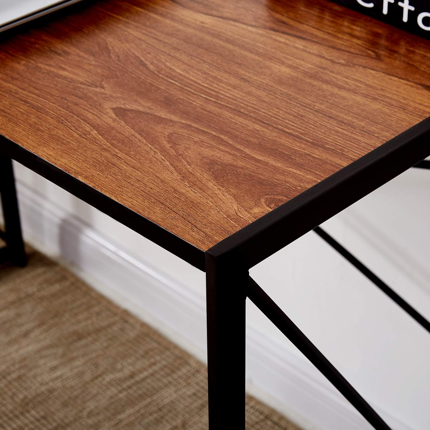 VECELO Writing Computer Folding Desk/Sturdy Steel Laptop Table for Home Office Work by VECELO (Image #3)