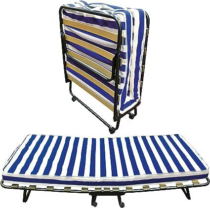 Baldiflex Cama plegable con somier de láminas con colchón de ...