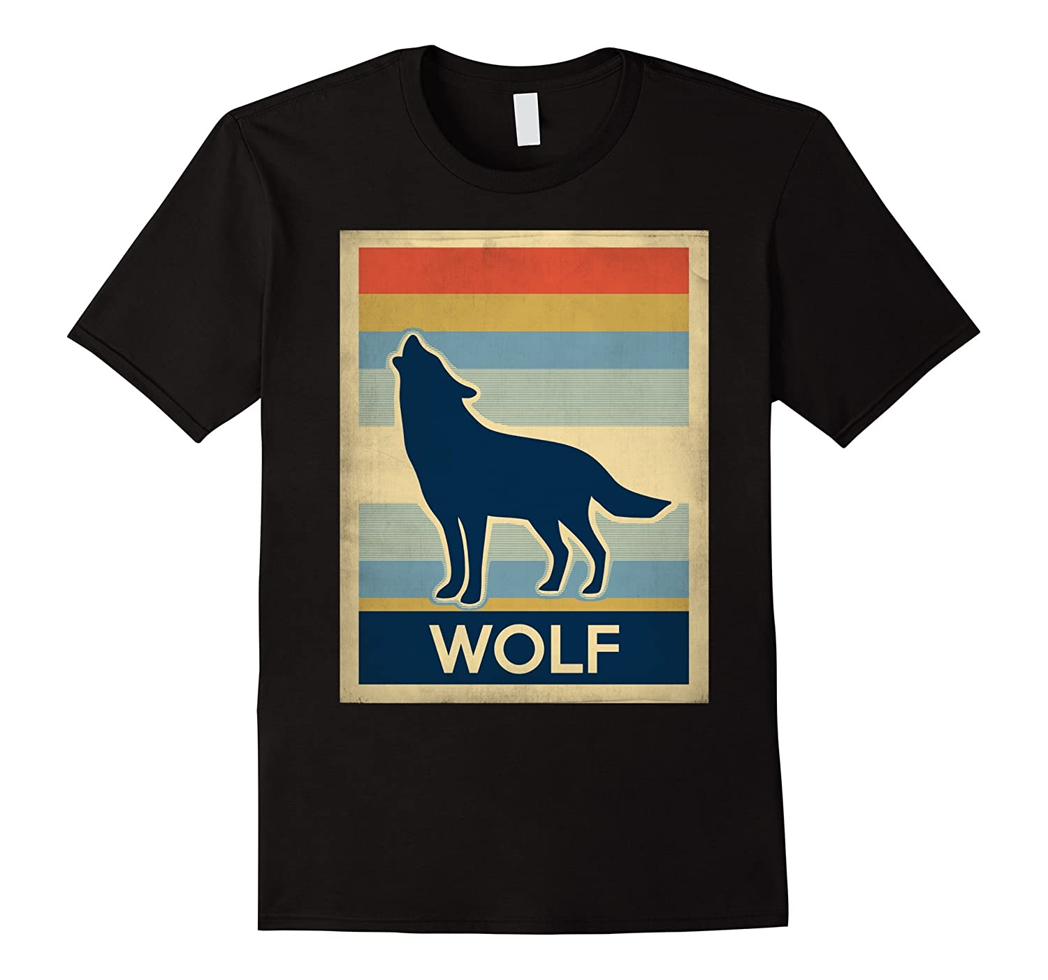 Vintage style wolf shirt art artvinatee for Amazon review wolf shirt