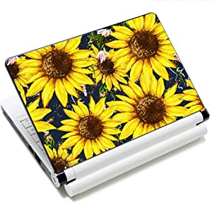 Laptop Stickers Decal,12 13 14 15 15.6 inches Netbook Laptop Skin Sticker Reusable Protector Cover Case for Toshiba Hp Samsung Dell Apple Acer Leonovo Sony Asus Laptop Notebook (Sunflower)