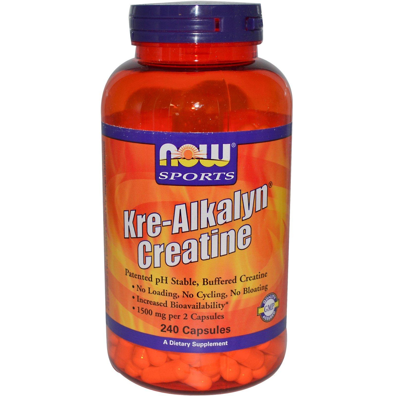 Now Foods Kre-Alkalyn Creatine - 240 Capsules 12 Pack