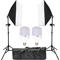 "Abeststudio 2x25W LED Continuous Lighting Kit 20""x28""/50x70cm Softbox Soft Box Photo Studio Set Light Bulbs Lamp 5500K Photography E27 Socket Softboxes AU Plug"