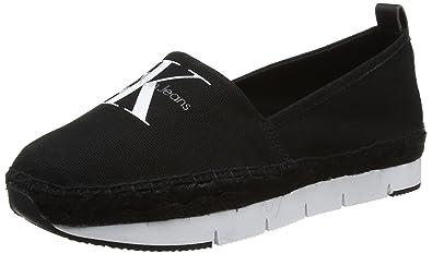 Calvin Klein Genna Canvas Blk, Zapatillas para Mujer, Negro (Black R3768Blk), 40 EU: Amazon.es: Zapatos y complementos