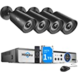 【H.265+】 Hiseeu Wired Security Camera System, 8CH 1080P Surveillance DVR with 4Pcs 1920TVL Indoor Outdoor Security Cameras, I